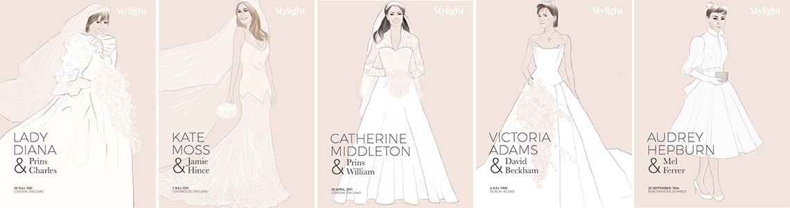 Mønster brudekjole Symønster