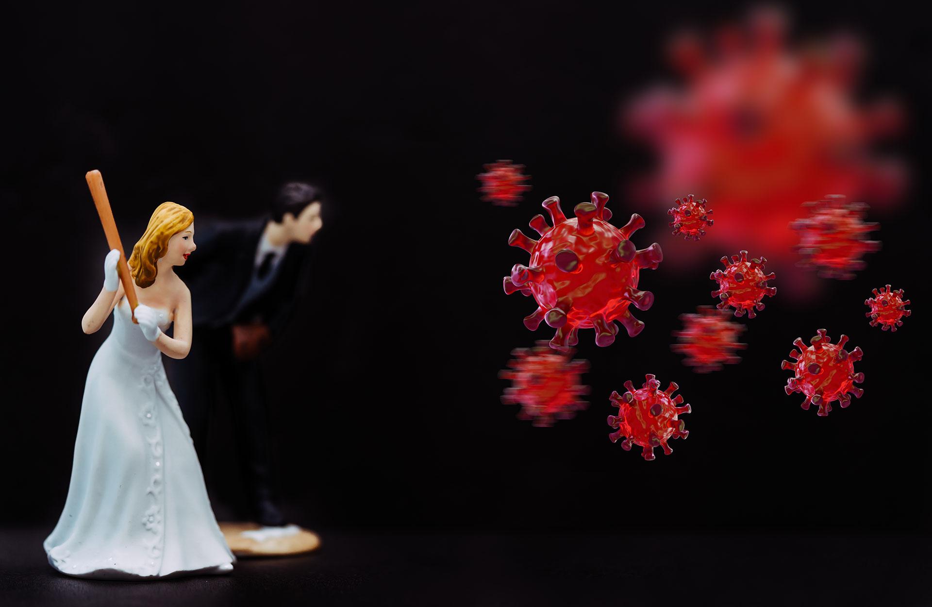 Bryllup korona brudepar
