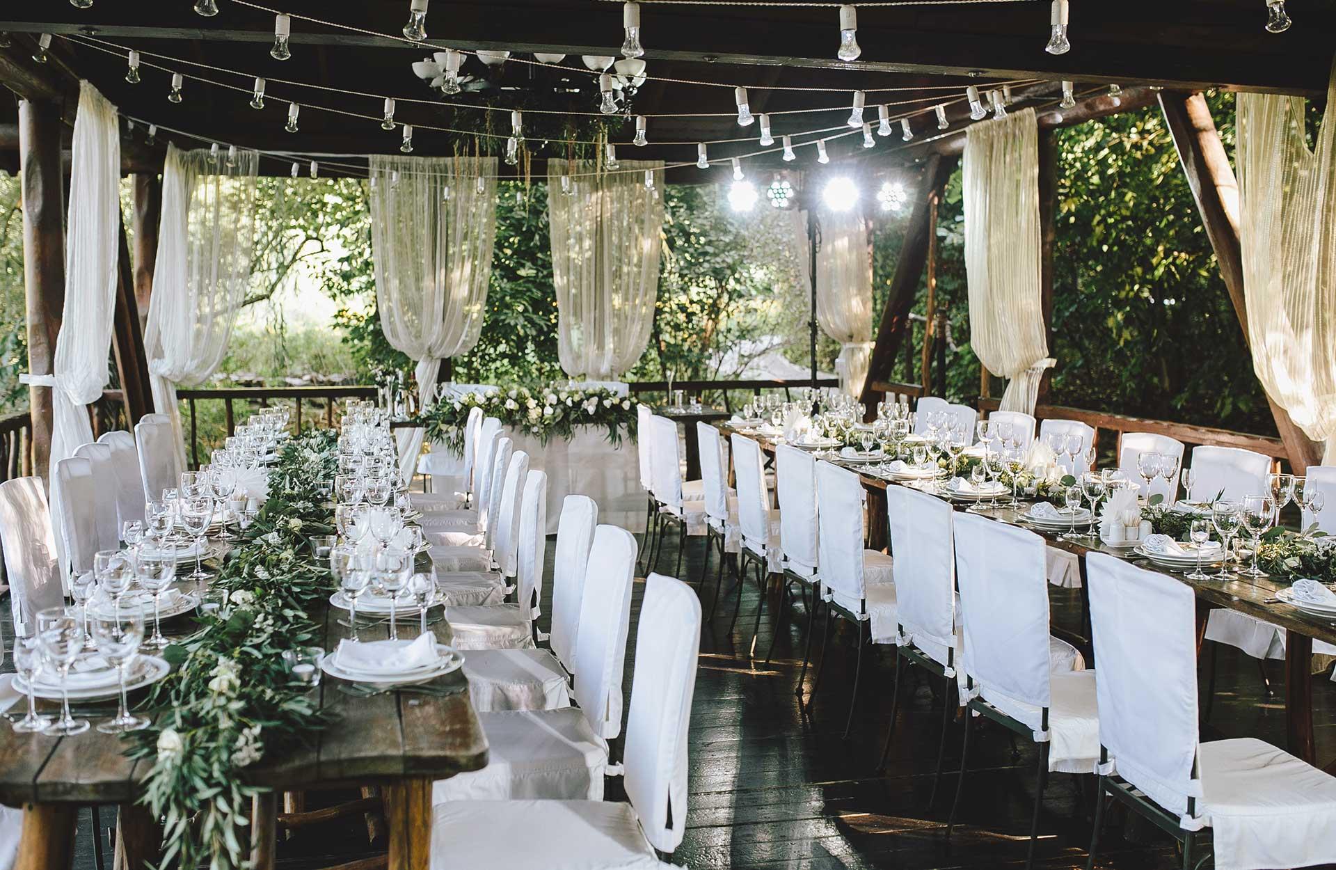 Bryllupsfest dekorasjoner