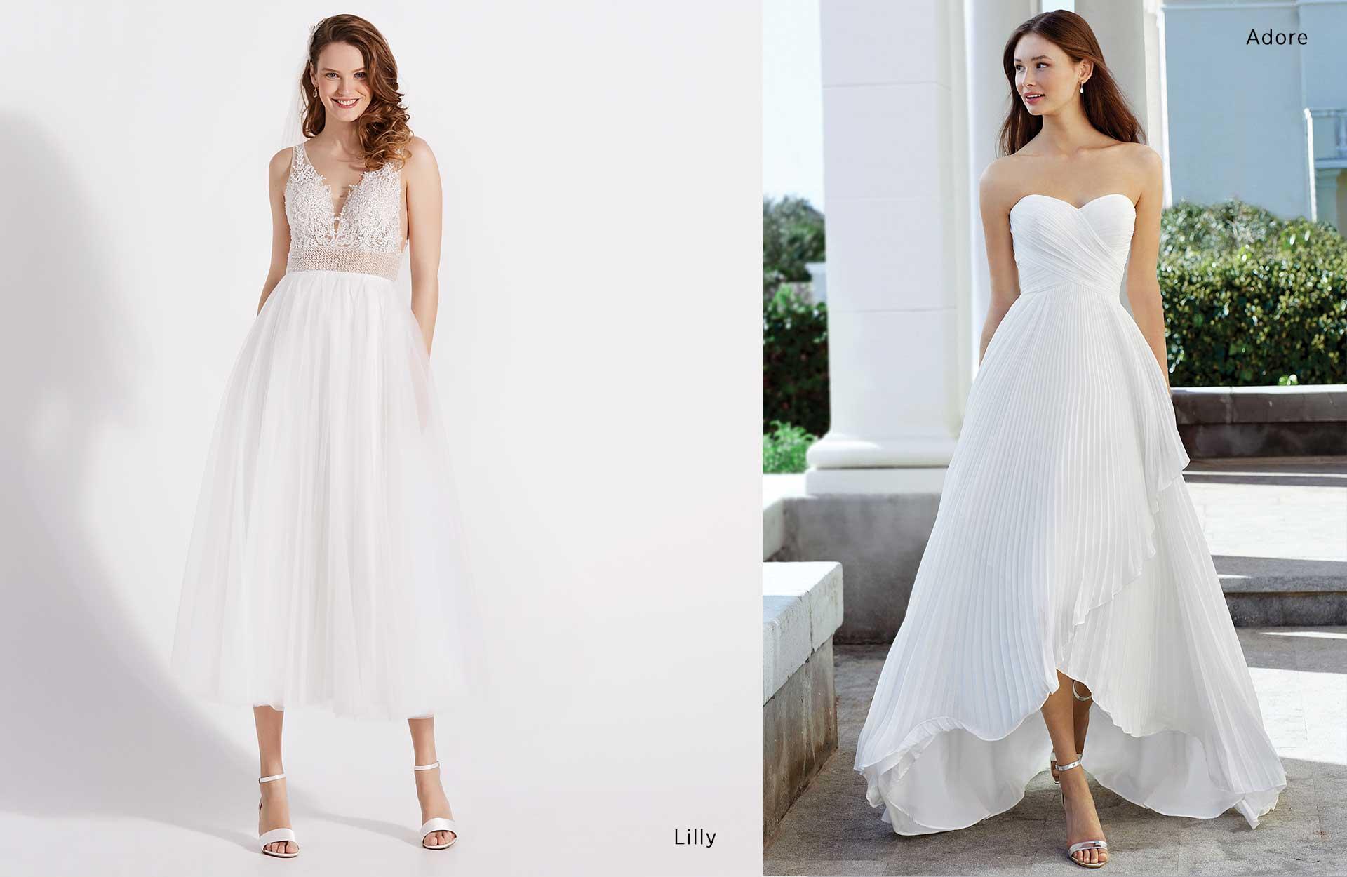 Bryllupstrender 9 og 10 - kort/lange kjoler og midikjoler